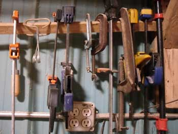 clamps in shop